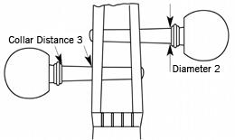 Diameter of the shaft